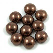 Candy - Cseh préselt kétlyukú gyöngy - Eggplant Bronze - 8mm