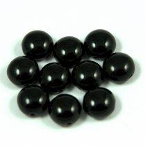 Candy - Cseh préselt kétlyukú gyöngy - Jet - 6mm