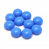 Candy - Cseh préselt kétlyukú gyöngy - Sapphire Blue - 8mm