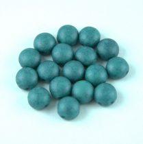 Candy - Cseh préselt kétlyukú gyöngy - Turquoise Green Blue Matte Travertin - 6mm