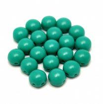 Candy - Cseh préselt kétlyukú gyöngy - Turquoise Green - 6mm