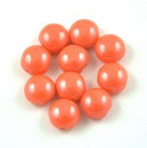 Candy - Cseh préselt kétlyukú gyöngy - Coral Luster - 8mm