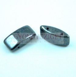 Carrier Bead - 9x17mm - Jet Hematite