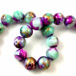 Oriental Glass Beads with Coating