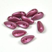 Chilli - cseh préselt kétlyukú gyöngy - pastel burgundy - 4x11mm