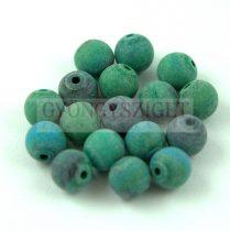 Chrysocolla golyó - matt - 6mm