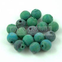 Chrysocolla golyó - matt - 8mm