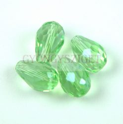Firepolished Faceted Glass Bead - Teardrop - 15x10mm - Chrysolite