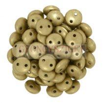 Cseh préselt kétlyukú lencse gyöngy - Aztec Gold -6mm
