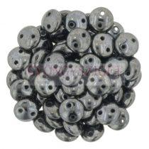 CzechMates 2 Hole Lentil Czech Glass Bead - hematit -6mm