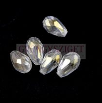Csiszolt csepp gyöngy 15x10mm - Crystal AB