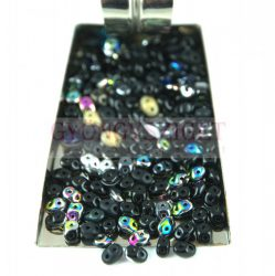Czech mixed Duo beads - Jet - 10g