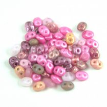 Czech mixed Duo beads - Pink - 10g