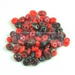 Czech mixed Duo beads - Red - 10g