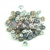 Czech mixed Duo beads - Silver - 10g