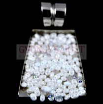 Czech mixed Duo beads - White - 10g