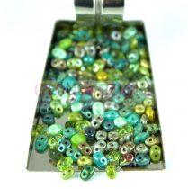 Czech mixed Duo beads - green - 10g