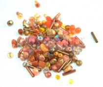 Cseh gyöngy mix - Orange - 10g