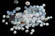 Czech mixed beads - White - 10g