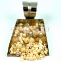 Czech mixed beads - cream - 10g