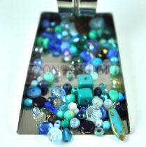 Czech mixed beads - blue - 10g