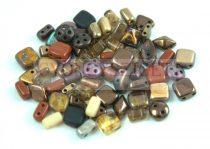Cseh többlyukú gyöngy mix - Bronz - 10g