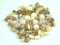 Czech multihole bead mix - Cream - 10g