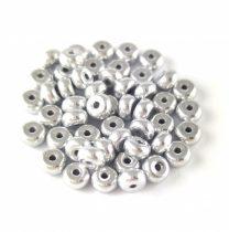 Cseh préselt rondelle gyöngy - Silver - 2.5 x 4 mm