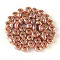 Cseh préselt rondelle gyöngy - Crystal Full Apollo - 2.5 x 4 mm