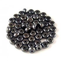 Cseh préselt rondelle gyöngy - Hematit - 2.5 x 4 mm