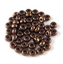 Cseh préselt rondelle gyöngy - Bronz - 2.5 x 4 mm