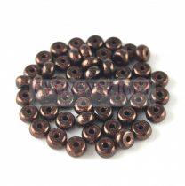 Cseh préselt rondelle gyöngy - Bronz Black Patina - 2.5 x 4 mm