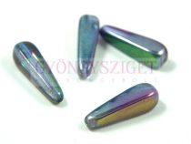 Cseh préselt csepp gyöngy - crystal magic blue - 27x10mm (hosszában fúrt)
