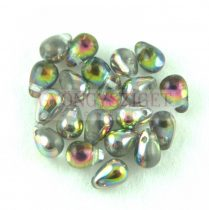 Cseh préselt csepp gyöngy - kristály írisz - 6x4 mm