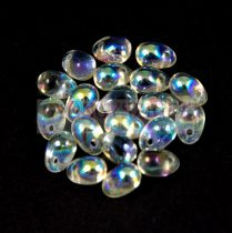 Drop - Czech Pressed Glass Bead - crystal vitral light - 6x4mm