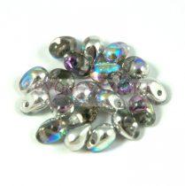 Cseh préselt csepp gyöngy - crystal opal rainbow - 6x4 mm