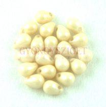 Cseh préselt csepp gyöngy - Alabaster Cream Luster - 4x6 mm
