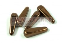Cseh préselt csepp gyöngy - bronz - 27x10mm (hosszában fúrt)