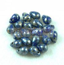 Cseh préselt csepp gyöngy - Sapphire Picasso - 4x6 mm