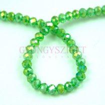 Csiszolt fánk gyöngy - Emerald AB - 2x3mm - szálon