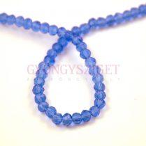 Csiszolt fánk gyöngy - Sapphire - 3x4mm - szálon