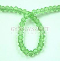 Csiszolt fánk gyöngy - Light Green - 3x4mm - szálon