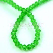 Csiszolt fánk gyöngy - Green - 3x4mm - szálon