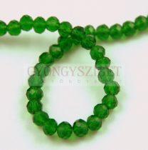 Csiszolt fánk gyöngy - Emerald - 3x4mm - szálon