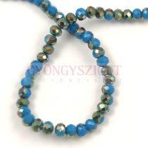 Csiszolt fánk gyöngy - Air Blue Opal Iris - 3x4mm - szálon