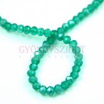Csiszolt fánk gyöngy - Emerald AB - 3x4mm - szálon