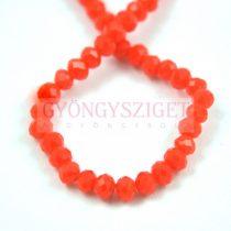 Csiszolt fánk gyöngy - Dark Orange - 3x4mm - szálon
