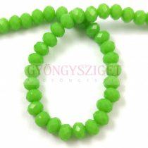 Csiszolt fánk gyöngy - Light Green Apple - 3x4mm - szálon