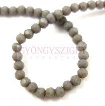 Csiszolt fánk gyöngy - Opal Grey - 3x4mm - szálon