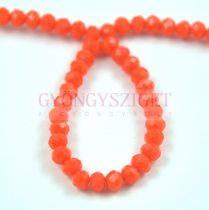 Csiszolt fánk gyöngy - Orange - 3x4mm - szálon